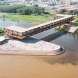 Snimanje dronom photo sky art Projekat 'Senka na lakat', most preko Dunava Novi Sad